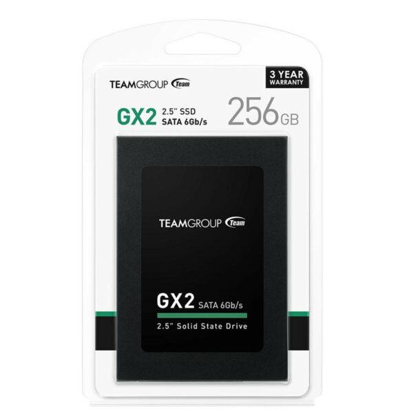 "TEAMGROUP GX2 SSD 256GB 2.5"" Sata 6.0 Gb/s (T253X2256G0C101)"