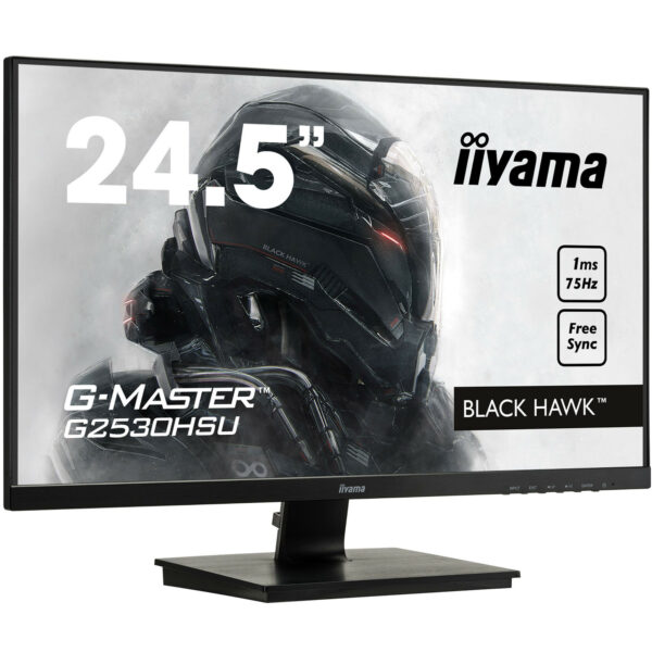 "iiyama maroc - ecran pc gamer 24,5"" LED TN 75Hz Freesync - Black Hawk"
