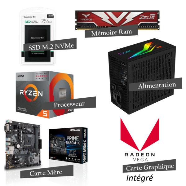 Pc Gamer Fortnite Level v1 - AMD RYZEN™ 5 - 8 GB - 256 SSD - RADEON VEGA 11