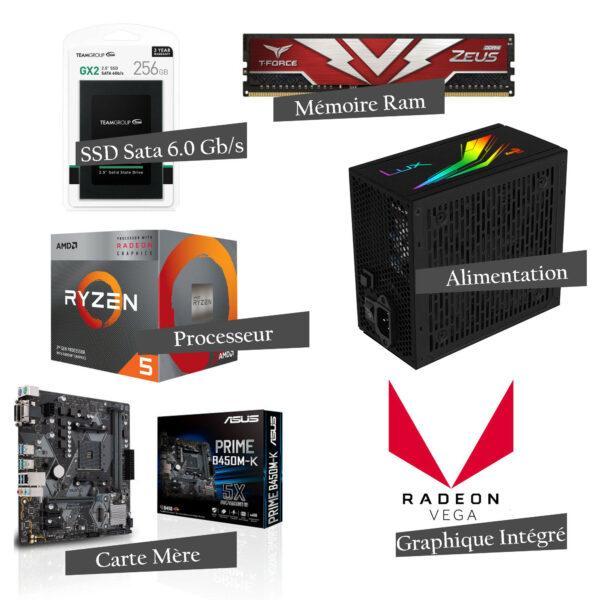Pc Gamer Fortnite Level v1 (Blanche) - AMD RYZEN™ 5 Bon Prix : 5999 Dhs sur Tera.ma
