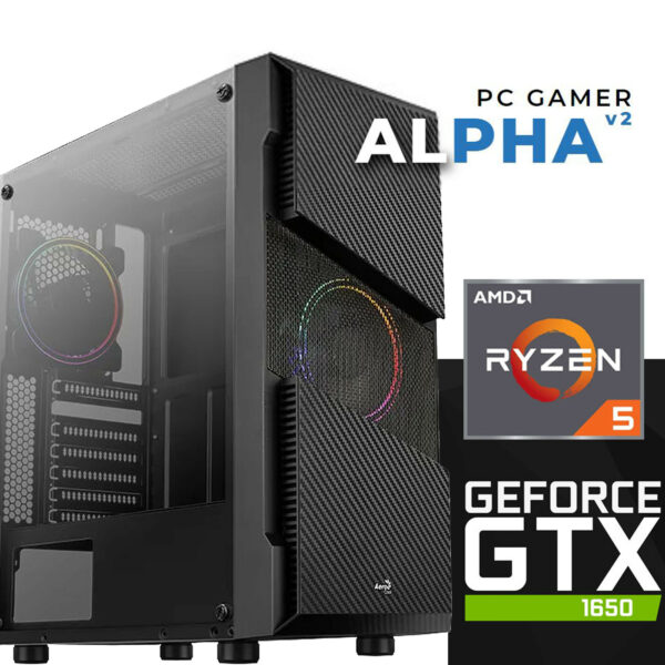 PC Gamer ALPHA V2 - AMD Ryzen™ 5 - 16 Gb 3200Mhz - 120ssd + 2to Hdd - GTX 1650 Dual Fan