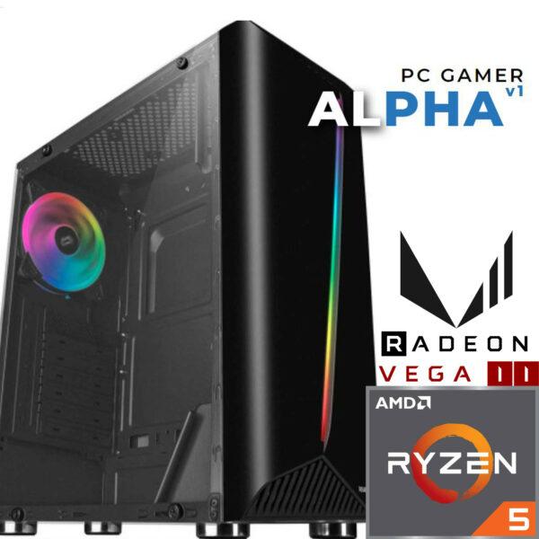 PC Gamer ALPHA V1 - AMD Ryzen™ 5 - 16 Gb - 256 SSD - Radeon Vega 11