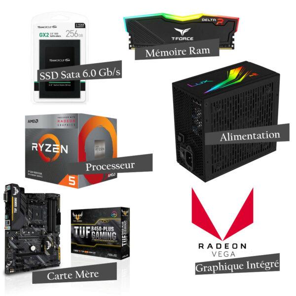 PC Gamer ALPHA V1 - AMD Ryzen™ 5