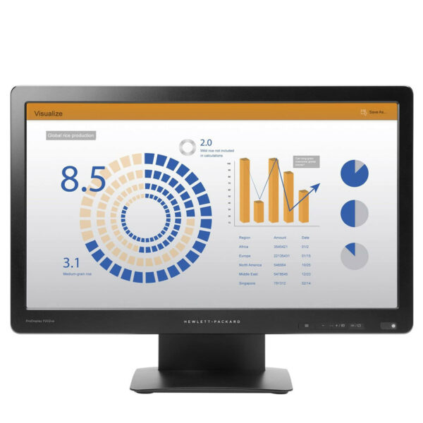 "Ordinateur de Bureau occasion Complet - HP Core ii, Acav Ecran 22"" 1080P"