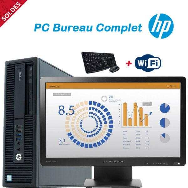 """Ordinateur de Bureau Complet - HP Core i3 (6th Gen) Acav Ecran 22"""" 1080P"""