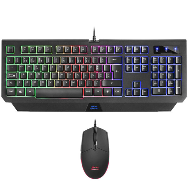 Mars Gaming MCP100 - PACK Clavier + Souris Combo 2IN1 RGB