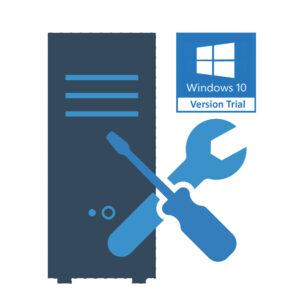 Montage PC Gamer + installation Windows 10 Pro 64 bits sans licence (trial)