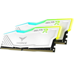 TEAMGROUP T-Force Delta RGB 32GB (2x16GB) DDR4 3200 MHz CL16 Blanc